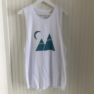 Zyia Active White Cotton Muscle Tank